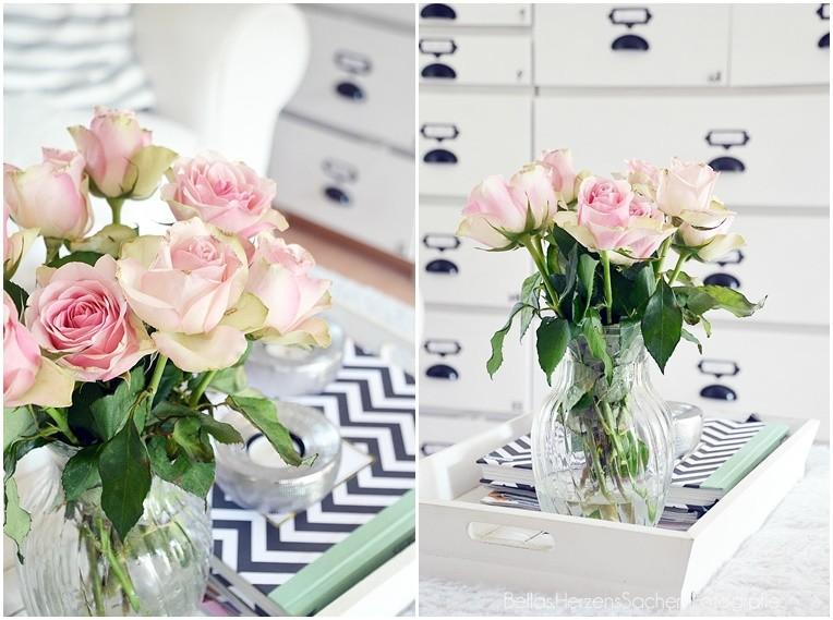 Rosen rosa Interior Blogger
