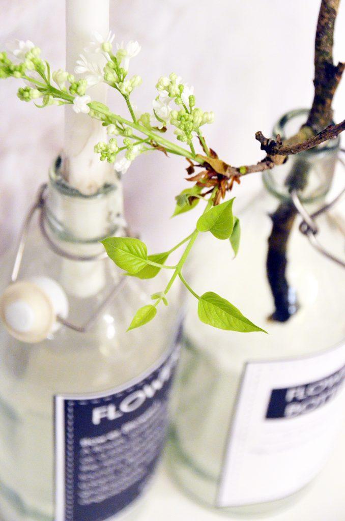 DIY Vasen Ettiketten