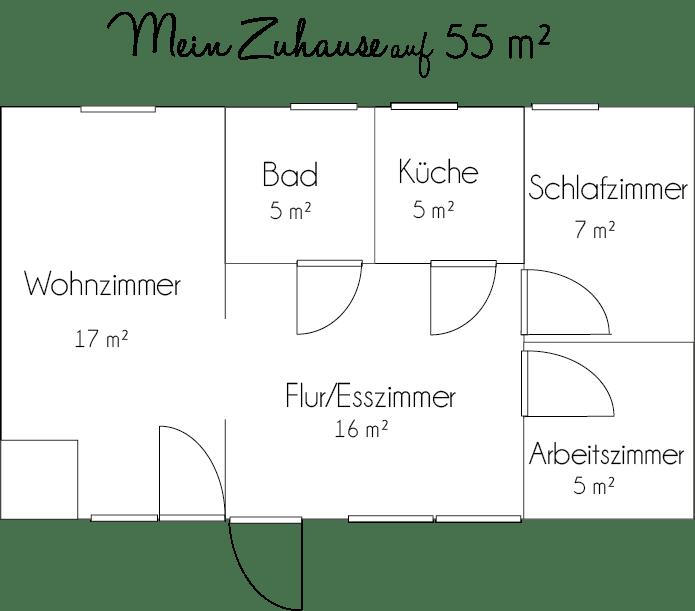 Grundriss Wohnung - mein Zuhause