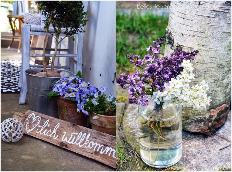 DIY Garten WIlkommen Schild