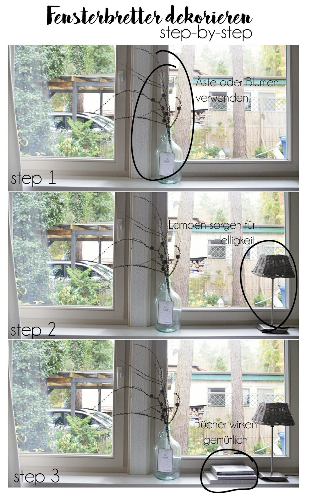 Fensterbrettdeko step-by-step Teil 1