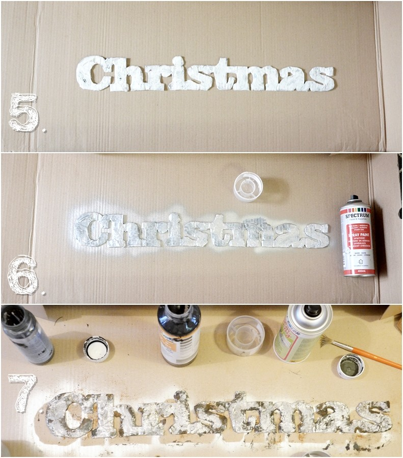 step by step Metallbuchstaben DIY