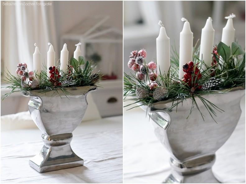Adventskranz DIY Vase