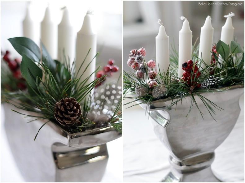 Adventskranz in Vase besonders