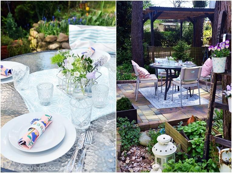 Garten Dekoration pastell
