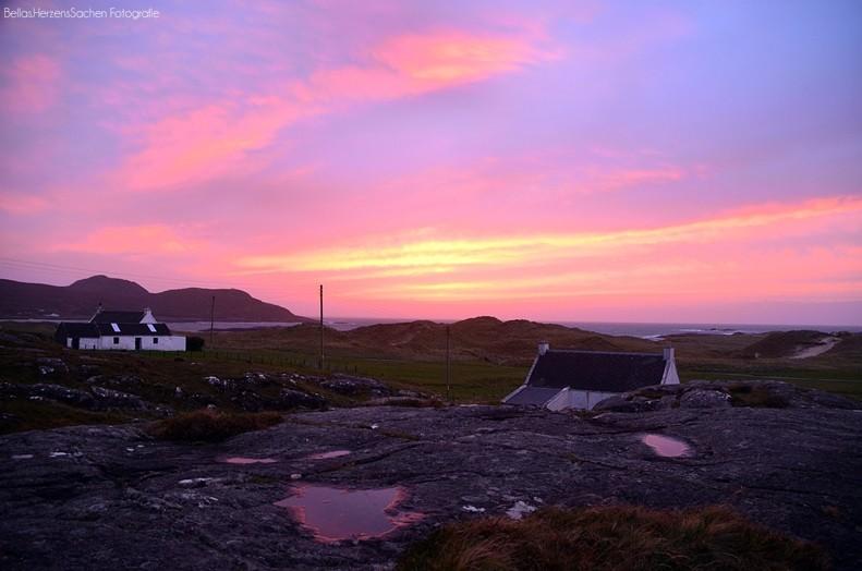 Sonnenuntergang in Schottland