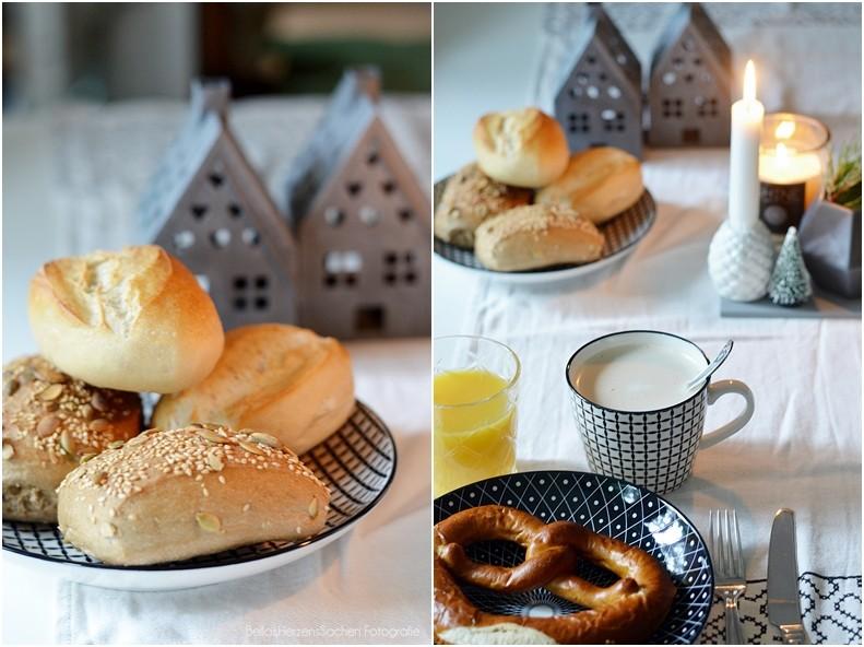 Frühstück mit Freunden zu Weihnachten