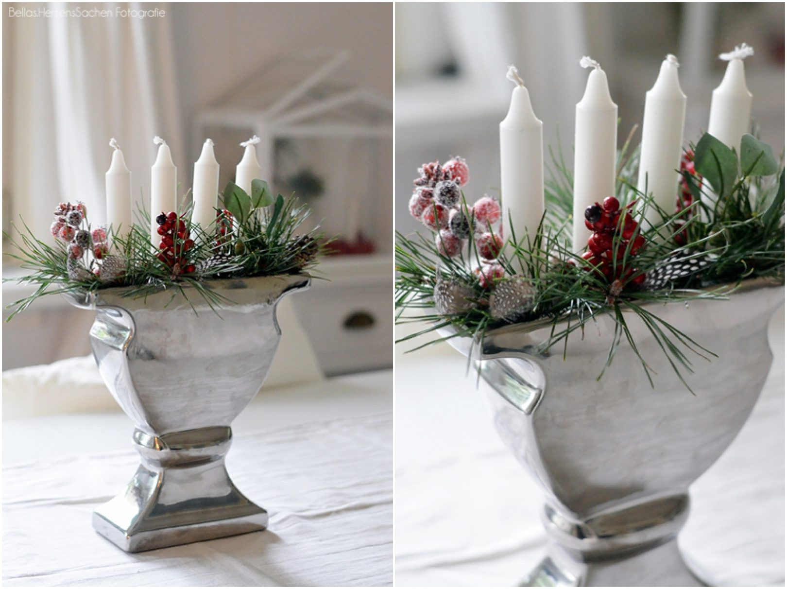 Adventskranz in Vase