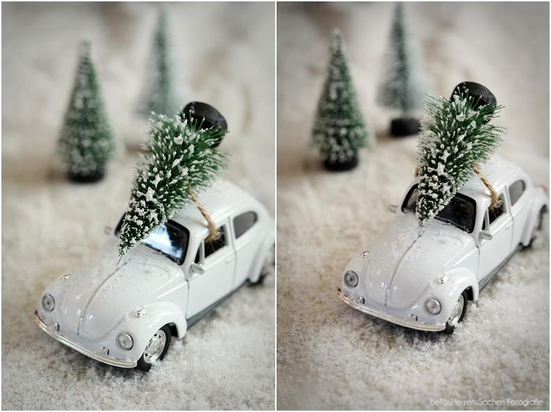 Weihnachtsdeko Mini Auto Tannenbaum