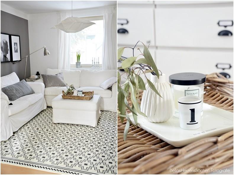 neuer Teppich weiß