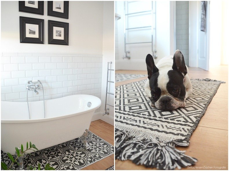 Badezimmer retro schwarz weiß
