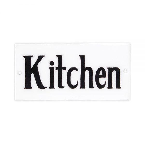 Emaille Schild Kitchen von Strömshaga