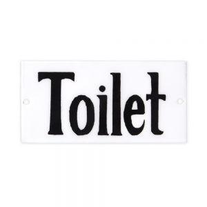 Emaille Schild Toilet Strömshaga