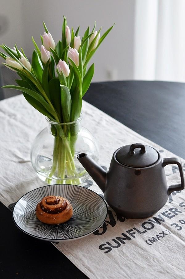 Skandinavische Teekanne matt schwarz