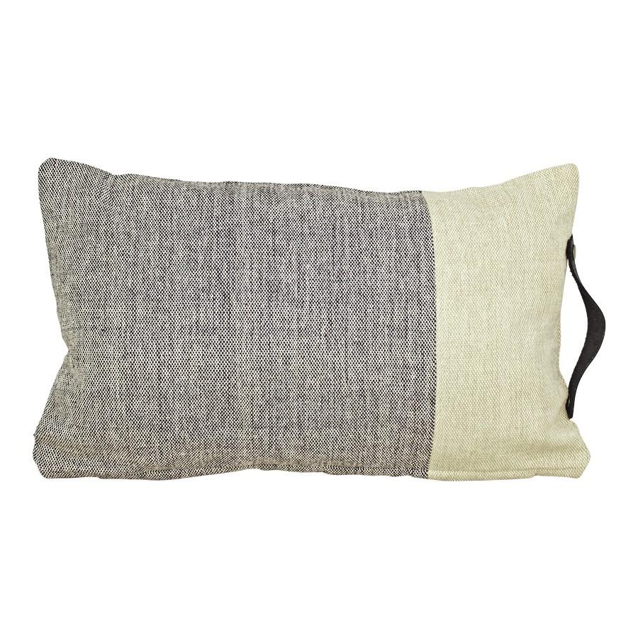 Kissenbezug schwarz beige 30 x 50 cm