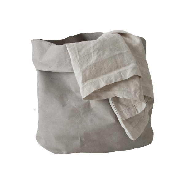 Wäschesack nachhaltig Papier grau KAMI Design