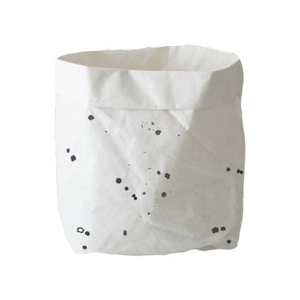 wäschesack Paper Back weiß gepunktet KAMI Design