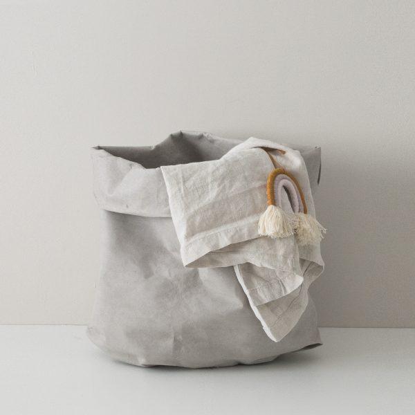 Wäschesack grau nachhaltig