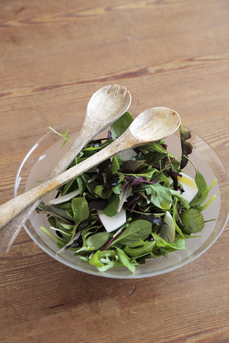 Nachhaltiges Salatbesteck Mangoholz
