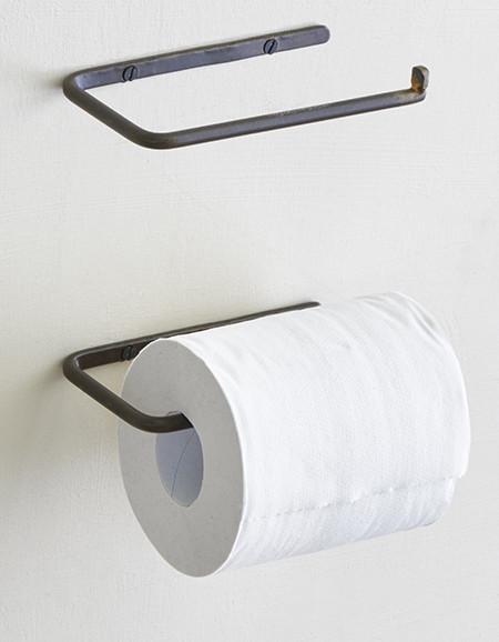 Toilettenpapierhalter schwarz Eisen