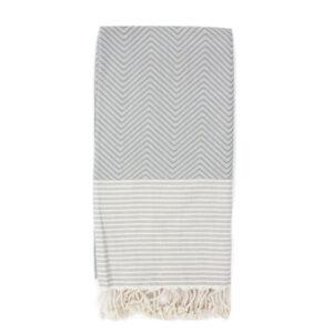 Decke Baumwolle grau weiß Muster