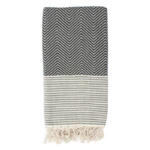 Decke Baumwolle Muster schwarz weiß