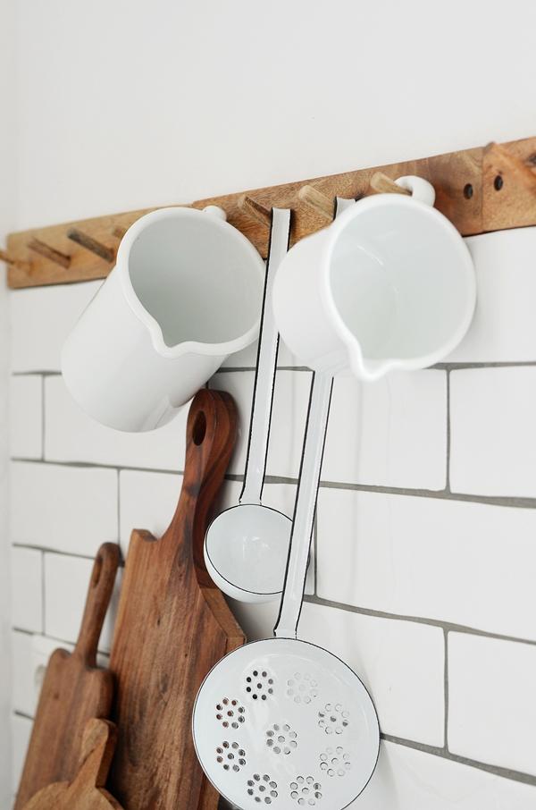 Küchenaccessoires weiße Emaille Riess