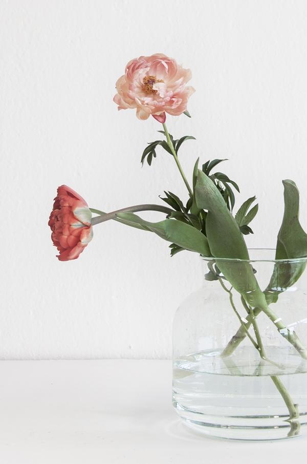 Vase rund zylindrisch recyceltes Glas UNC Amsterdam