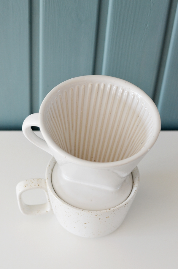 Kaffeefilter Keramik weiß