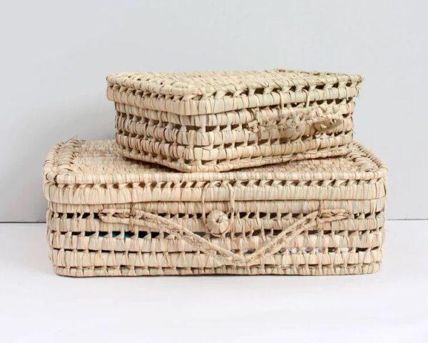 Kofferset aus Palmenblättern