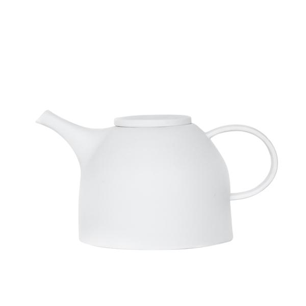 Teekanne weiß Porzellan UNC Amsterdam