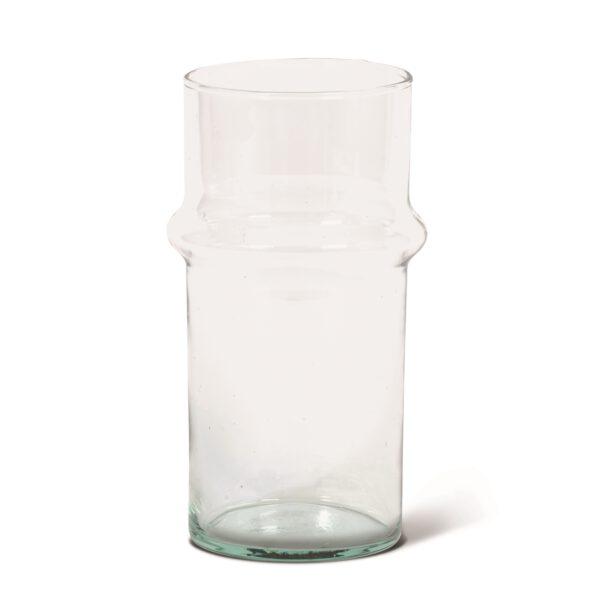 Vase schmal recyceltes Glas UNC Amsterdam