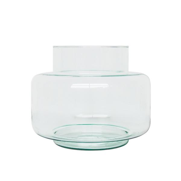 breite Vase mit Rand recyceltes Glas UNC Amsterdam