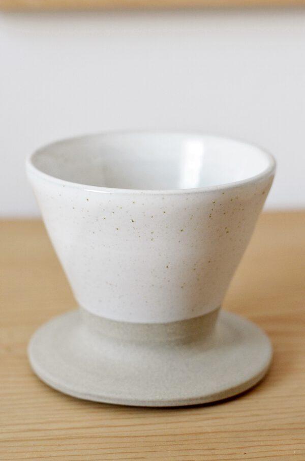 Kaffeefilter Keramik weiß handgefertigt