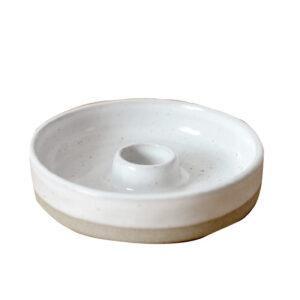 Kerzenhalter Keramik weiß