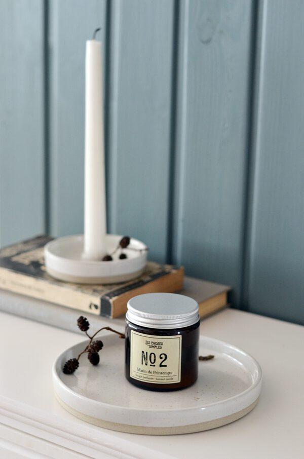 Platte Kerzenhalter Keramik