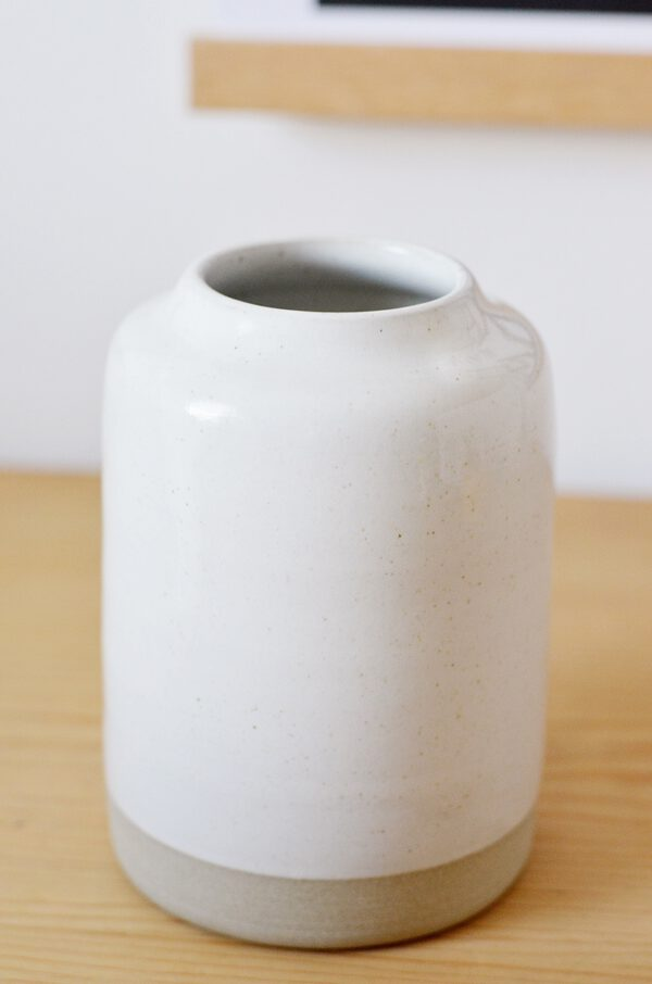 Keramik Vase weiß