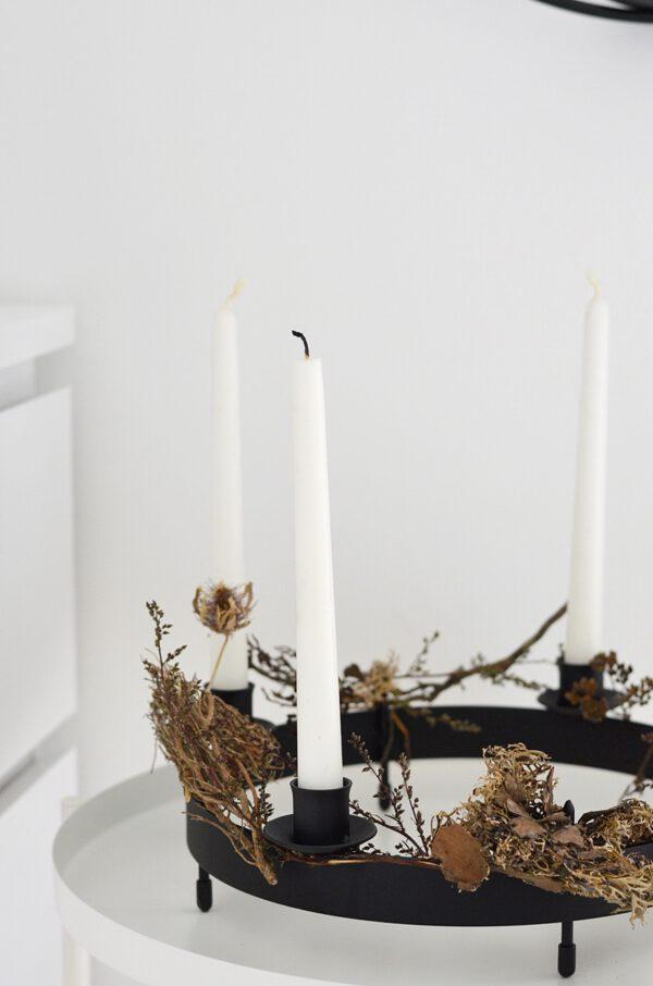 Kerzenring zum Hinstellen schwarz