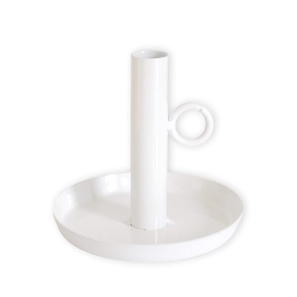 Kerzenständer Metall weiß