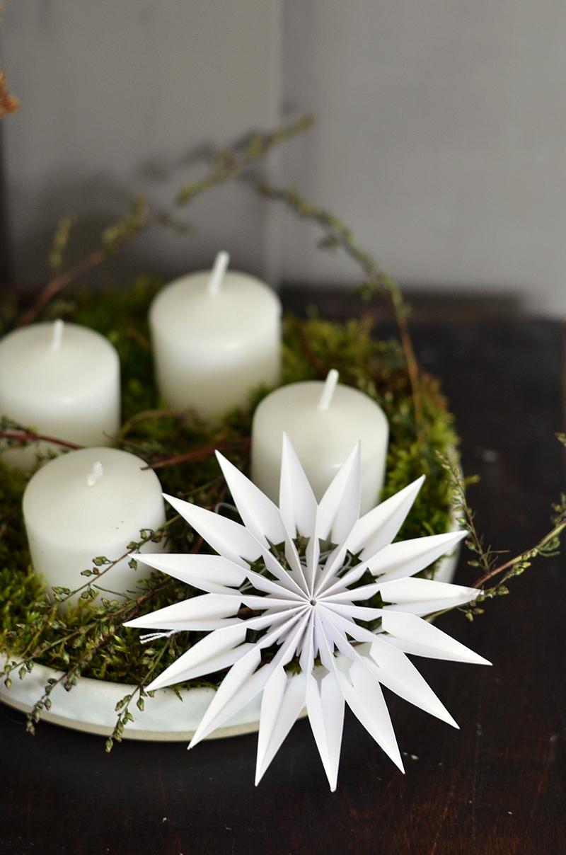 Adventskranz aus Keramik