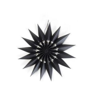 kleiner Papierstern schwarz handgefertigt