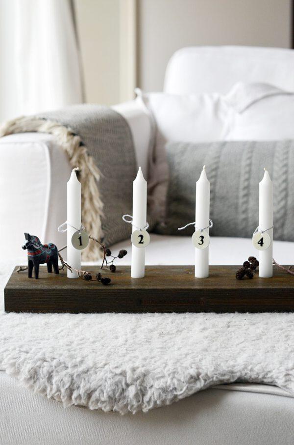 Kerzenbrett Holz
