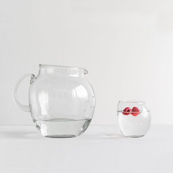Wasserkrug recyceltes Glas UNC