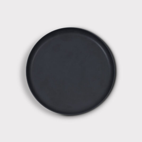 Deko Platte Steinzeug schwarz