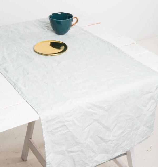 Tischläufer Leinen graugrün