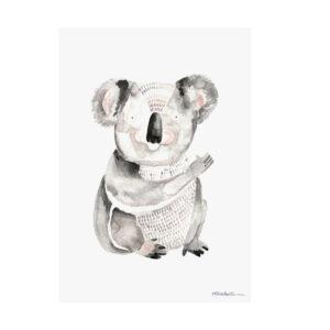 Illustriertes Poster Koala