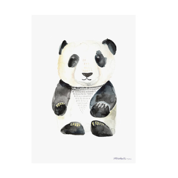 Illustriertes Poster Panda