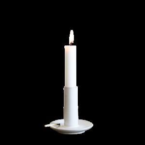 Kerzenhalter 'Lou' Keramik weiß