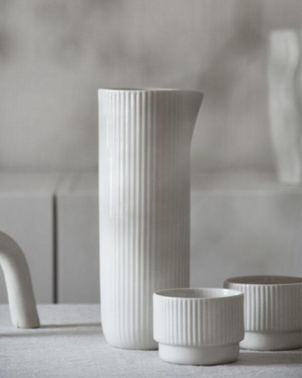 Krug / Vase weiß
