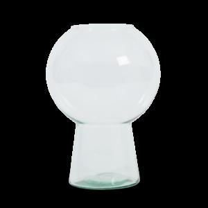 Vase Bauch, recyceltes Glas